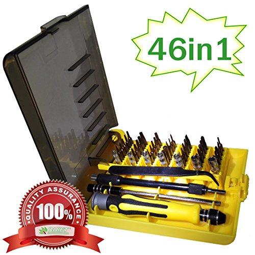 QUIET 46 Piece Precision Screw Driver Set Magnetic Tool Repair Kit, Professional Repiar Phone,Tablet PC, Laptop Pad ,Watch & DIY Etc Electronics Repair Tool Kit (Printer Repair Kit compare prices)