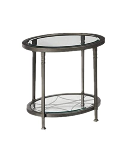 Amazon.com: GTU Furniture Atrium Metal Oval Beveled Glass ...