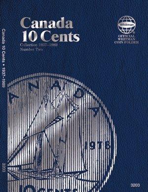 Whitman Coin Folder Album - Canadian 10 Cents 1937-1989 #0794832032 Canada