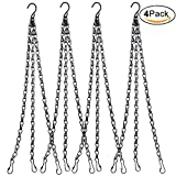 RTWAY 4 Pack 22 Inches Hanging Chains, Flower Pot Chain Garden Plant Hanger with 3 Point for Bird Feeders and Planters and Decorative Ornaments size 4 Pack