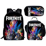 Three-piece Backpack Set Fortnite personalized burden school bag sport casual Outdoor shoulder messager bag unisex handbag