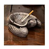 LuckySHD Adorable Turtle Ashtray,Interior Decoration Ornament Small Tray,Art Cartoon Cigarette Ashtray
