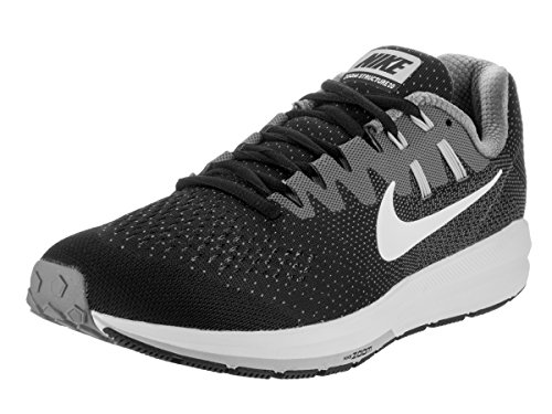 Nike Mens Air Zoom Structure 20 Running Shoe Black/White/Cool Grey 8