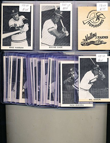 (1976 Williamsport Tomahawks 23 card set Wayne cage, Mike Hannah)