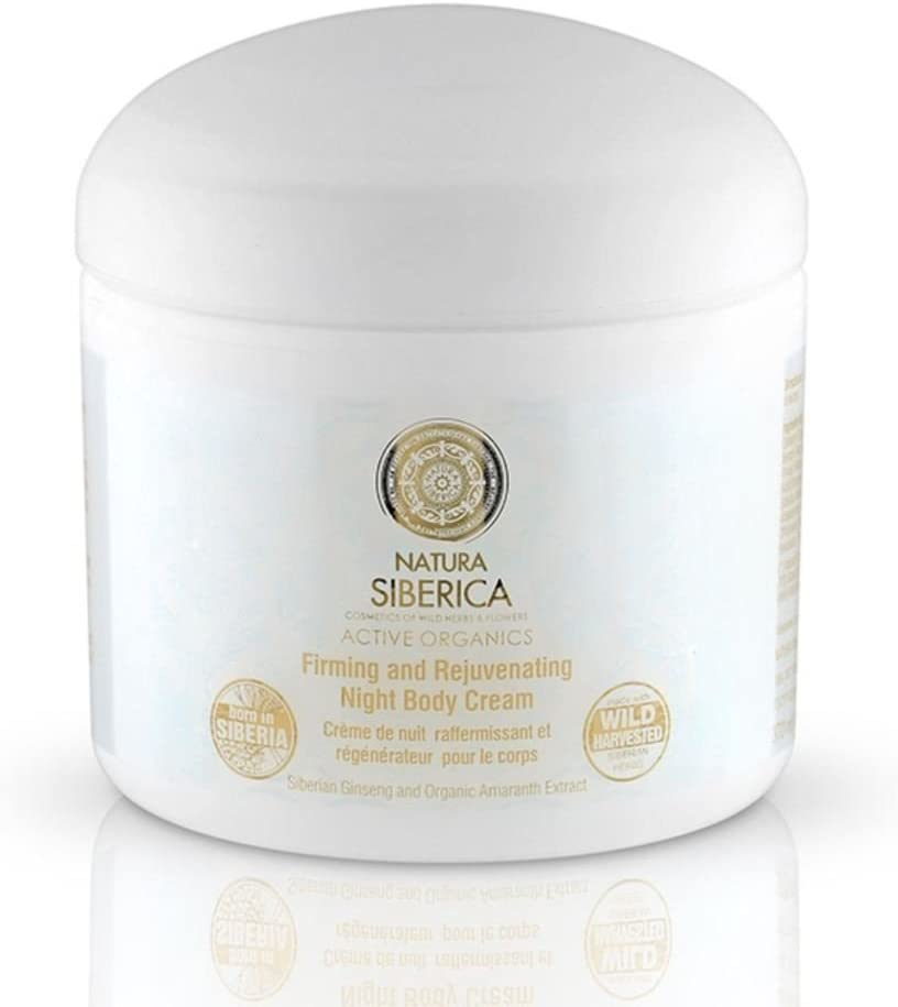 ACTIVE ORGANICS Body Night Cream Anti-Age for Strengthening and Rebuilding Skin with Ginseg Root, Amaranth Oil Active Organics Wild Herbs and Flowers 370 ml Natura Siberica