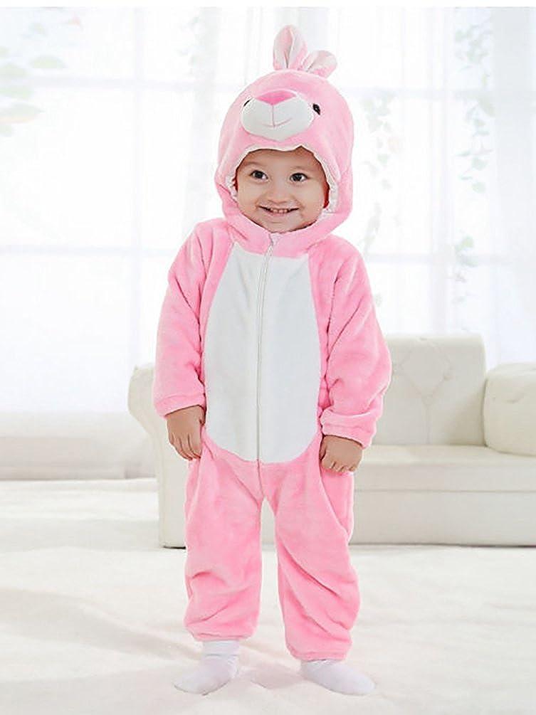 Unbekannt MissFox Baby Jungen M/ädchen Winter Flanell Strampler Outfits Cosplay Onesie Tierkost/üme Pyjamas Schlafanzug