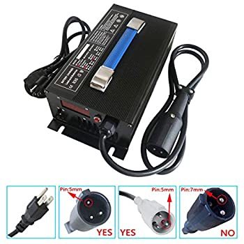 Image of Abakoo Battery Charger 48V 15A for Club Car Golf Cart with 3 Pin Round Plug AC Adapters