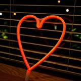 Neon Light,LED Heart Sign Shaped Decor Light,Wall Decor for Chistmas,Birthday party,Kids Room, Living Room, Wedding Party Decor (Red)
