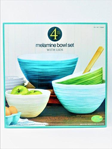 4 Melamine Bowl Set with Lids (B00UUY8D7S) | Amazon price tracker ...