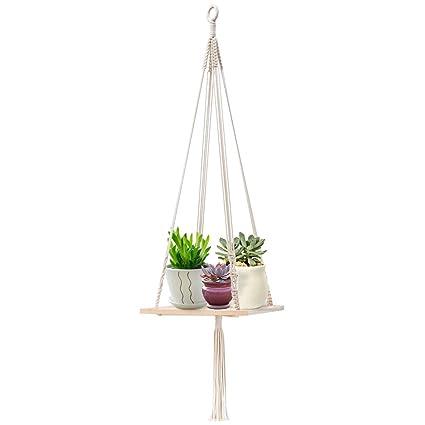Amazon Com Zilong Macrame Shelf Hanging Planter Plant Hanger With