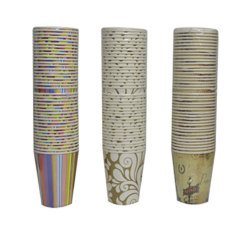 Bestwoo Disposable Paper Cups Water Floral Hot Cup for Party,20 Counts,0.06 Gallon (40 Count)