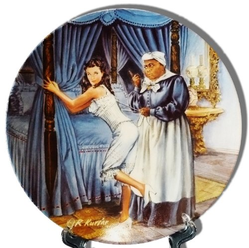 Plates Exchange Collectible Bradford - Gone with the Wind Collectible Bradford Exchange Knowles China Plate ; Mammy Lacing Scarlett
