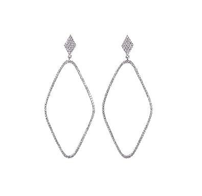 5116029b7 Qiyami Dangly Earrings Silver Earrings For Women Swarovski Cartilage Earring  Dangle Earrings 925 Cubic Zirconia 9ct Gold Earrings Drop Earrings Tragus  ...
