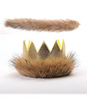Where The Wild Things are Crown and Tail Wolf Hat Kids Party Hat Set