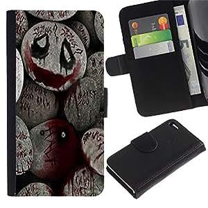 "Be-Star la tarjeta de Cr¨¦dito Slots PU Funda de cuero Monedero caso cubierta de piel Para Apple Apple iPhone 4 / iPhone 4S ( De Halloween Monster Blood Spooky Pumpkin"" )"