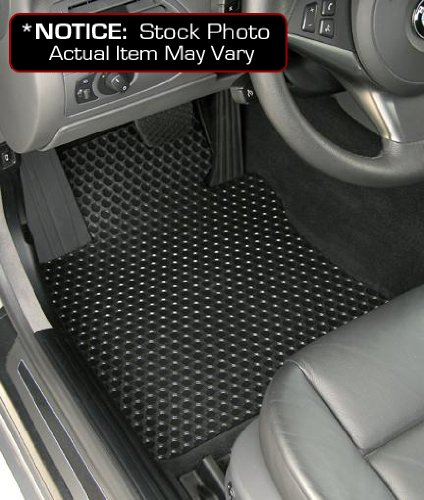Lloyd Mats Custom-Fit All-Weather Rubbertite Floor Mats 2 Piece Front Set - Black (1997 97 1998 98 1999 99 ) (Ford Econoline Lloyd Mats)