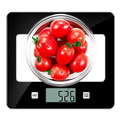 Digital Kitchen Scale Food Scales, TOBOX Glass Postage Scale High Accuracy with LCD Display and Tare Function ()