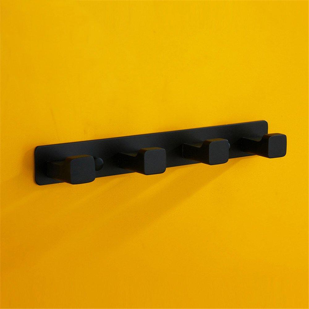 CASEWIND montado en la Pared toallero de Barra de una Sola Barra Soporte 22/cm construcci/ón de Acero Inoxidable Soporte de Pintura de Caucho Negro
