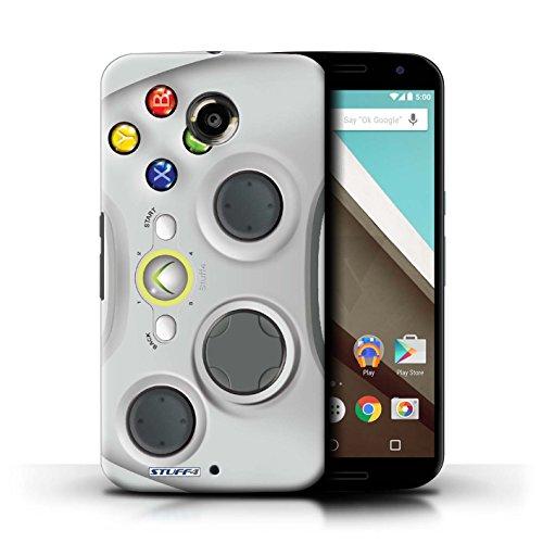 Kobalt® Imprimé Etui / Coque pour Motorola Nexus 6 / Blanc Xbox 360 conception / Série Console (jeux vidéo)