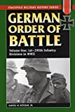German Order of Battle: 1st-290th Infantry Divisions in WWII (Stackpole Military History Series)
