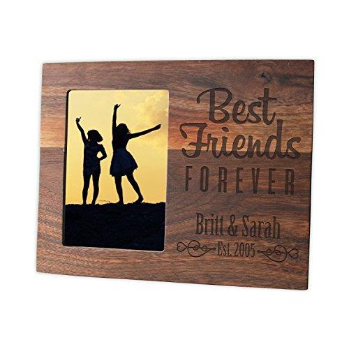 Personalized Hardwood Best Friends Forever Frame/Laser engraved 4x6 ...
