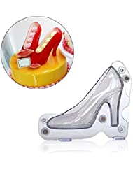 3D High Heel Shoe Chocolate Candy Mould Bundle Molding Fondant Cake Mold Decorating DIY Home Baking, 4.7 inches Long By Palker sky