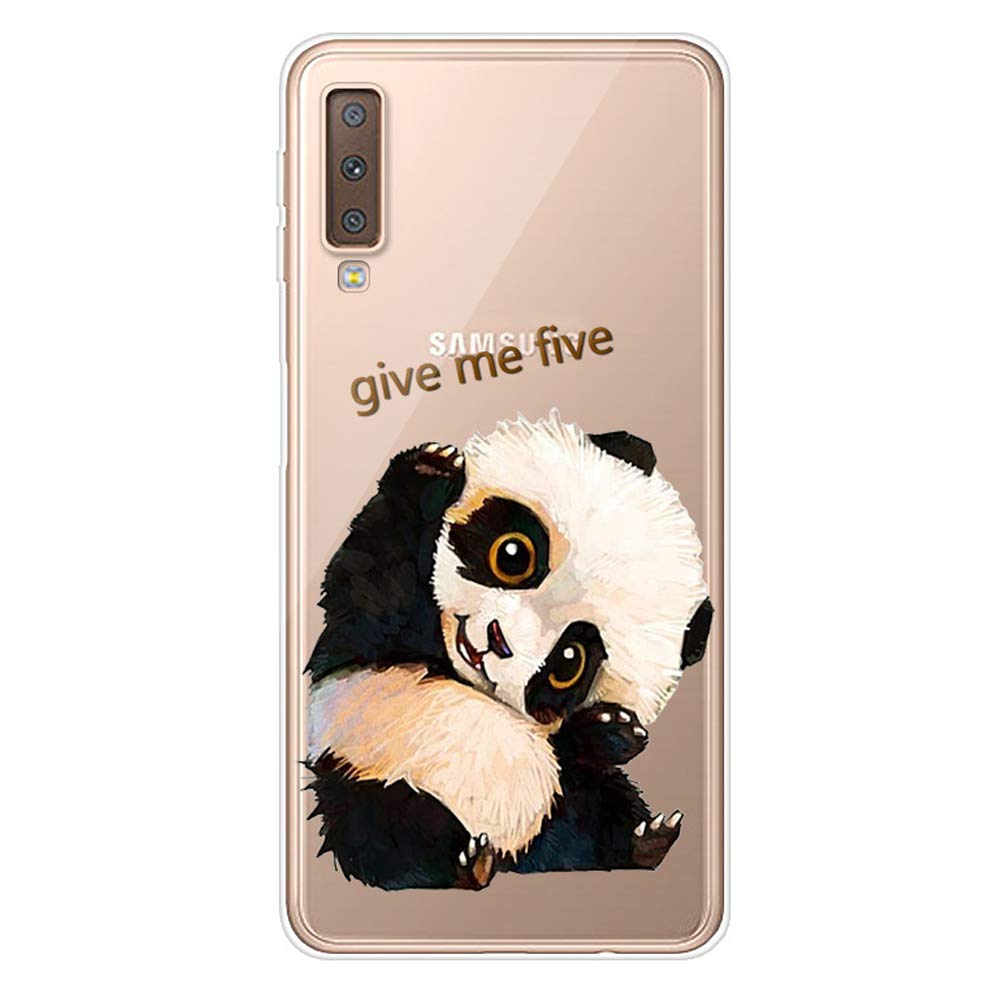 Panda Felfy Kompatibel mit Galaxy A7 2018 H/ülle,Kristall Klar Transparente Durchsichtig Case Cover Handyh/ülle Bunt Mode Muster Weich TPU Silikon Schlank Backcover Schutzh/ülle Tasche Etui