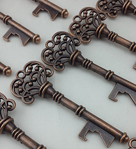 40PCS Bottle Openers Copper Wedding Favors Rustic Decoration]()