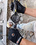 Impacto Anti-Vibration Gloves, Synthetic Suede Leather Palm Material, Black, L, PR 1 - BG408L