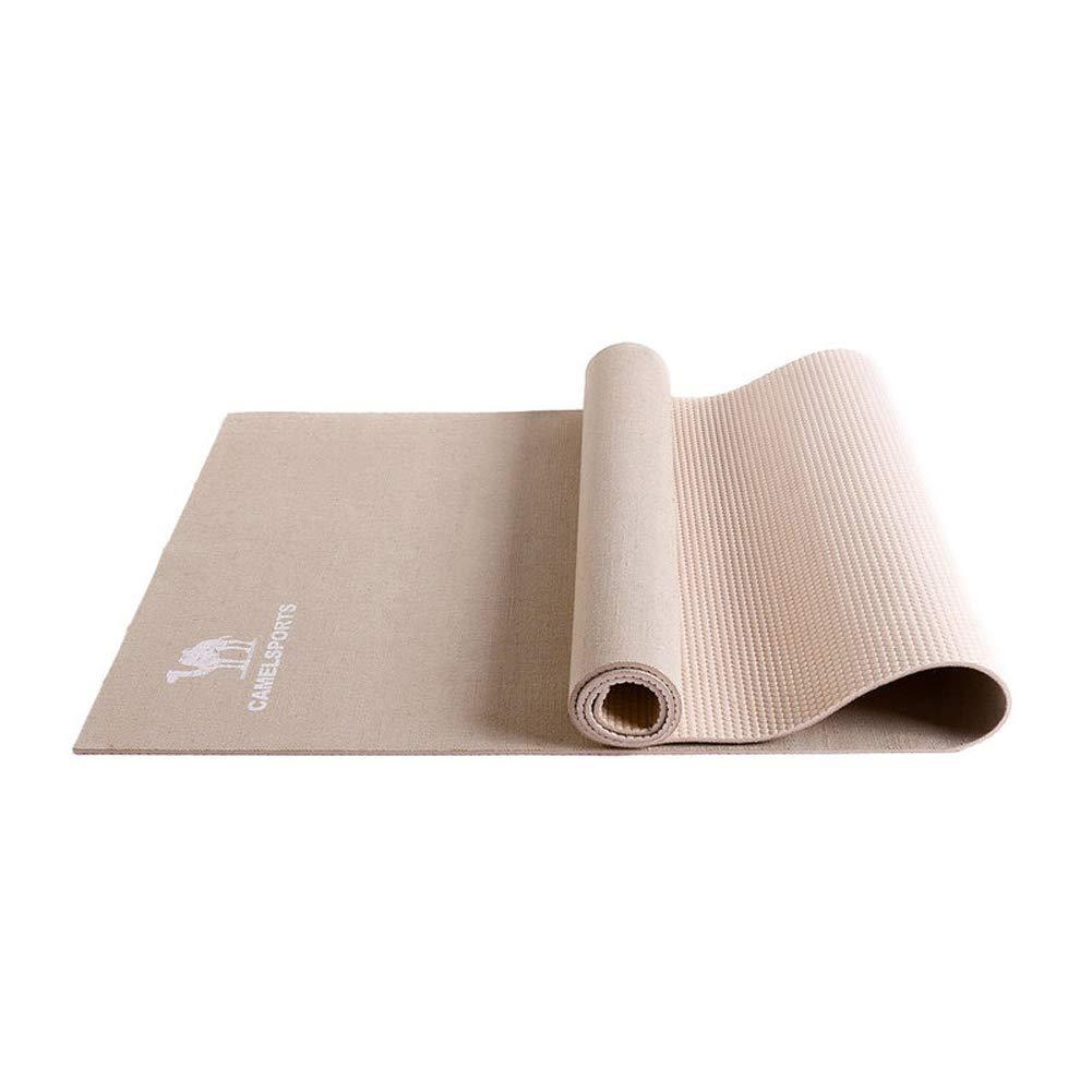 L&Y 5Mm Rutschfest Yogamatte, PVC Fitnessmatte Aus,Rutschfest Umweltfreundlich Pilates Matte Für Gymnastik, Fitness,183Cmx61cm