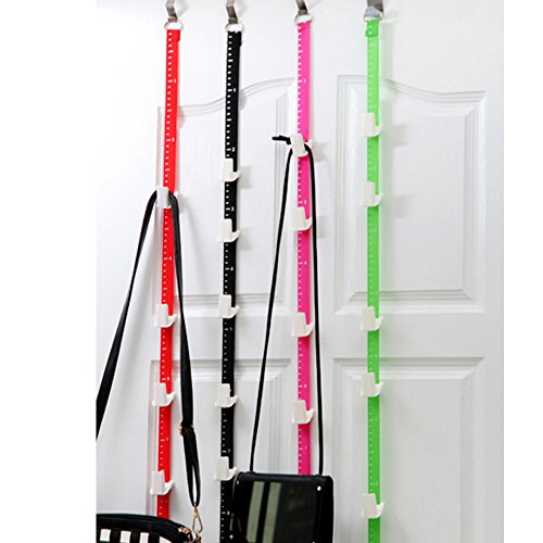 Over Door Hook , Multi-Function Coat Towel Hanger With 5 Slots And Adjustable 6 Hook , Heavy Duty Kitchen Cabinet Utensils Organizer Rack Save Space Home Or Office For Hat , Bag , Clothes , Belts