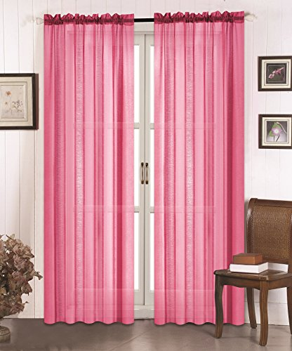 "All American Collection New 2pc Doli Sheer Curtain 60""x84"""