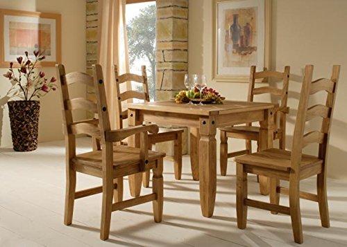Esstischgruppe Mexican Henke Möbel Kiefer massiv Braun Massivholz