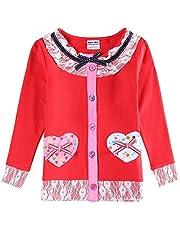 JUXINSU Cotton Toddler Girls Long Sleeve Pink t-Shirt Flower for Baby Girl Kids Autumn Clothes 1-6 Years L339