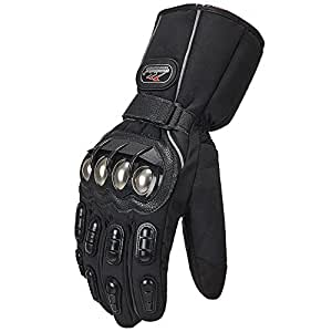 Amazon.com: ILM Alloy Steel Motorcycle Riding Gloves Warm
