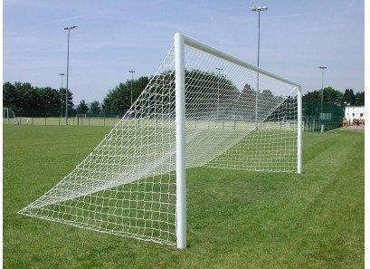 24ft x 8ft voller Größe Profi gleich wieder Fußball Torpfosten Netz
