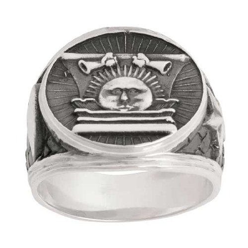 Lds Mens 0 925 Stainless Steel Nauvoo Temple Sunstone Ring
