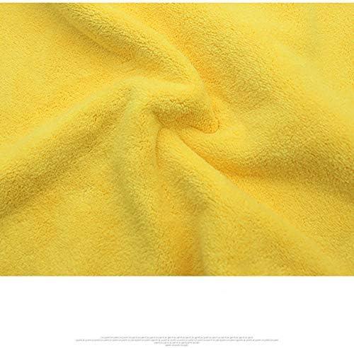 極度の厚いプラシ天のマイクロファイバー車のクリーニングクロスのぬれたおよび乾燥した土の塵車の拭く洗濯タオル良い吸水性-黄色-30x60