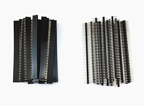 Honbay 40pcs 40 Pin Single Row Male and Female Pin Header Co