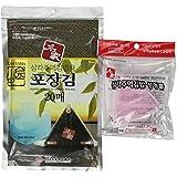 "Kaneyama Seaweed Wrappers for Triangular ""Onigiri"" Rice Ball Starter Kits (20 Sheets with Mold)"