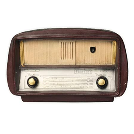 Adorno de estilo retro de radio vintage, decoración de resina para ...