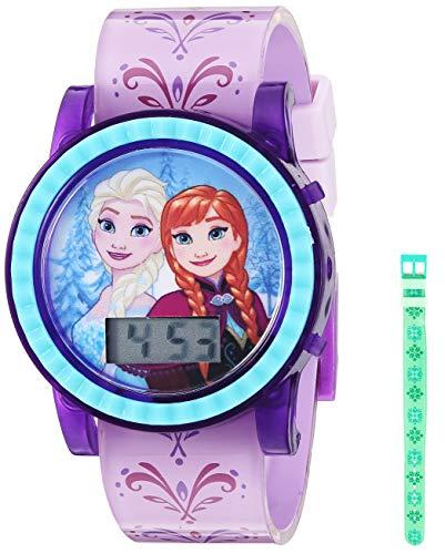 Disney Quartz Watch with Plastic Strap, Purple, 18.4 (Model: FZN4032)