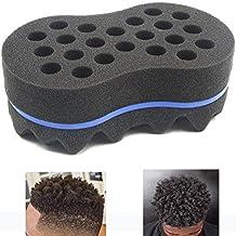 RioRand Magic Twist Hair Sponge,Barber Sponge Brush 2 In 1,10 & 16 Mm Hole Diameter(Dimension: 19011565 MM)