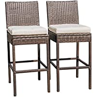 Sundale Outdoor 2 Pcs All Weather Patio Furniture Brown...