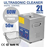 HappyBuy Ultrasonic Cleaner 2L Large Commercial Ultrasonic Cleaner Stainless Steel Ultrasonic Cleaner With Heater And Digital Control Ultrasonic Cleaner Solution Heated With Jewelry