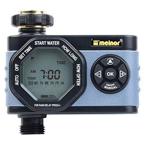 (Melnor Simple and Flexible Programming, Easy Manual Override 53015 Single-Outlet Digital Water Timer, 1 Zone, 1 Zone)