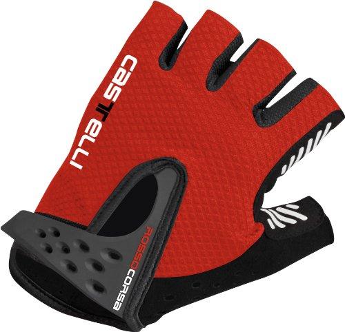Castelli S. Rosso Corsa Gloves Red/Black, M - Men's