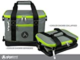 GigaTent Lime Insulated Collapsible Cooler – Soft Lunch Box with Bottle Opener For Camping, Beach and Travel – Lightweight and Tear Resistant Fabric – Holds 16 Cans or 12 Bottles
