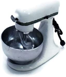 ChangThai Design Vintage White Bread Dough Mixer Machine Dollhouse Miniature
