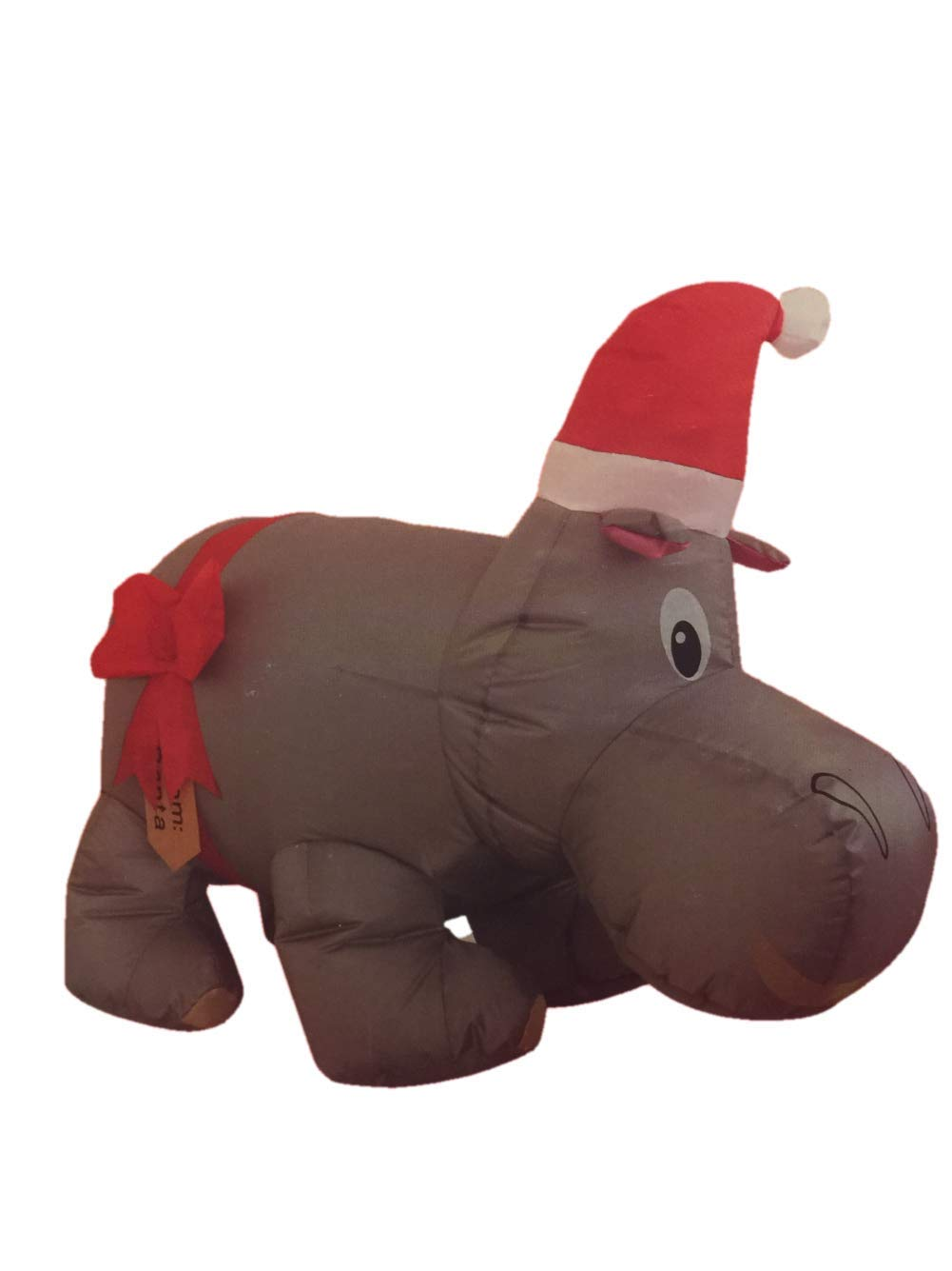 Santa's Boutique Christmas Self Inflating Illuminated Blow-up Yard Decorations (Hippo, 42 inches)